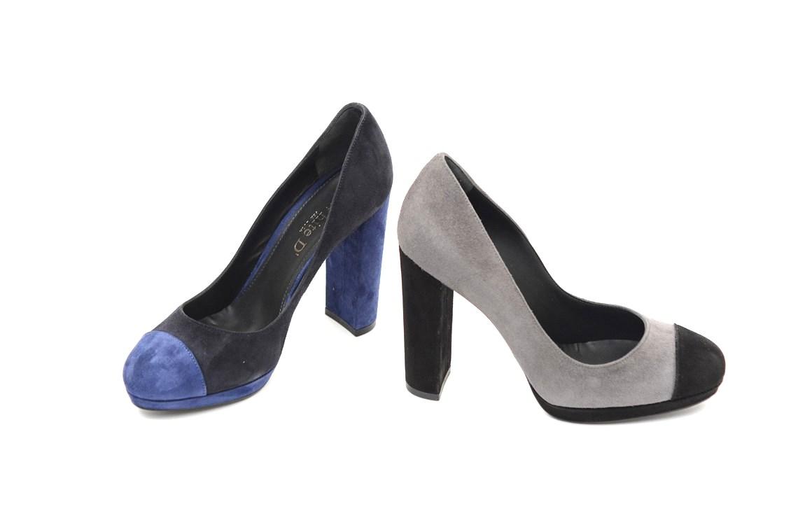 Alto Tacco Con Donna Online Decolletè Bicolore 4 scarpe Camoscio In wxIBnOqRX