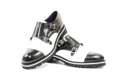 Monkstrap donna bicolore.Scarpe donna corso vercelli milano negozio storico lucacalzature ora anche online con il proprio ecommerce (2)