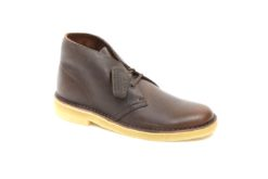 Classic desert boots in leather with rubber sole in para.ecommerce lucacalzataure milano