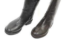 Stivali donna coccodrillo mezzo gambale fatti a mano lucacalzature shop corso vercelli