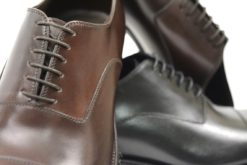 Oxford shoes in leather with double sole,handmade shoes in italy.luca calzature milano
