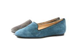 Pantofola donna in camoscio con fondino di gomma vibram,scarpa slipon lucacalzature (2)