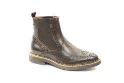 Stivaletto beatles in pelle con fondo gomma,calzature uomo adatte alla stagione autunno inverno (3)