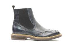 Stivaletto beatles in pelle con fondo gomma,calzature uomo adatte alla stagione autunno inverno (4)