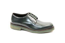 Scarpa sportiva uomo in pelle con vibram,calzature artigianali realizzate in italia james Benson lucacalzature milano website luca