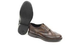 Scarpe stringate uomo Samsonite in pelle con lavorazione fiore in punta.Scarpe in pelle lucacalzature milano corsovercelli (3)