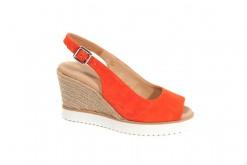Espadrillas in camoscio con zeppa alta.Frau shoes made in italy.