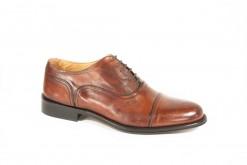 Francesina elegante in pelle cuoio con suola leggera di cuoio.Classica calzatura elegante e sportiva.Shopping online www.lucacalzature.it (Copia)