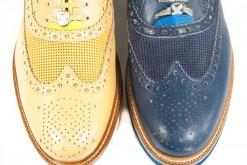 Francesine stringate pelle e camoscio con suola gomma Brimarts shoes a milano.