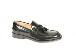 Scarpe classiche da uomo prodotte in italia dai migliori artigiani.Calzature in pelle,lavorazione blackrapid Alexander shoes.Mocassino in vitello con doppio fondo cucito a mano.