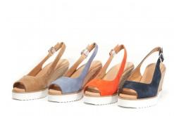 Scarpe donna espadrillas in camoscio con tacco alto.Frau shoes made in italy.Scopri di più.