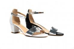 Scarpe da donna eleganti,sandali con tacco medio comode e confortevoli.Milano Corso Vercelli.