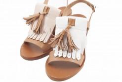 Sandali sportivi da donna in pelle con tao medio,calzature artigianali made in italy lucacalzature