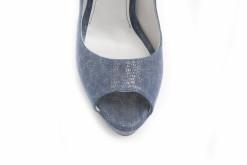 Open toe da donna in camoscio stampato,scarpe con tacco altissimo a prezzi super .Visita il sito lucacalzature.it