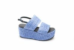 Sandalo a zeppa in raffia con doppia fascia e cinturino regolabile,scopri i modelli Lucacalzature per la stagione primaverile.
