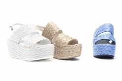 Scegli i sandali in raffia con la zeppa alta,scopri le calzature Luca.