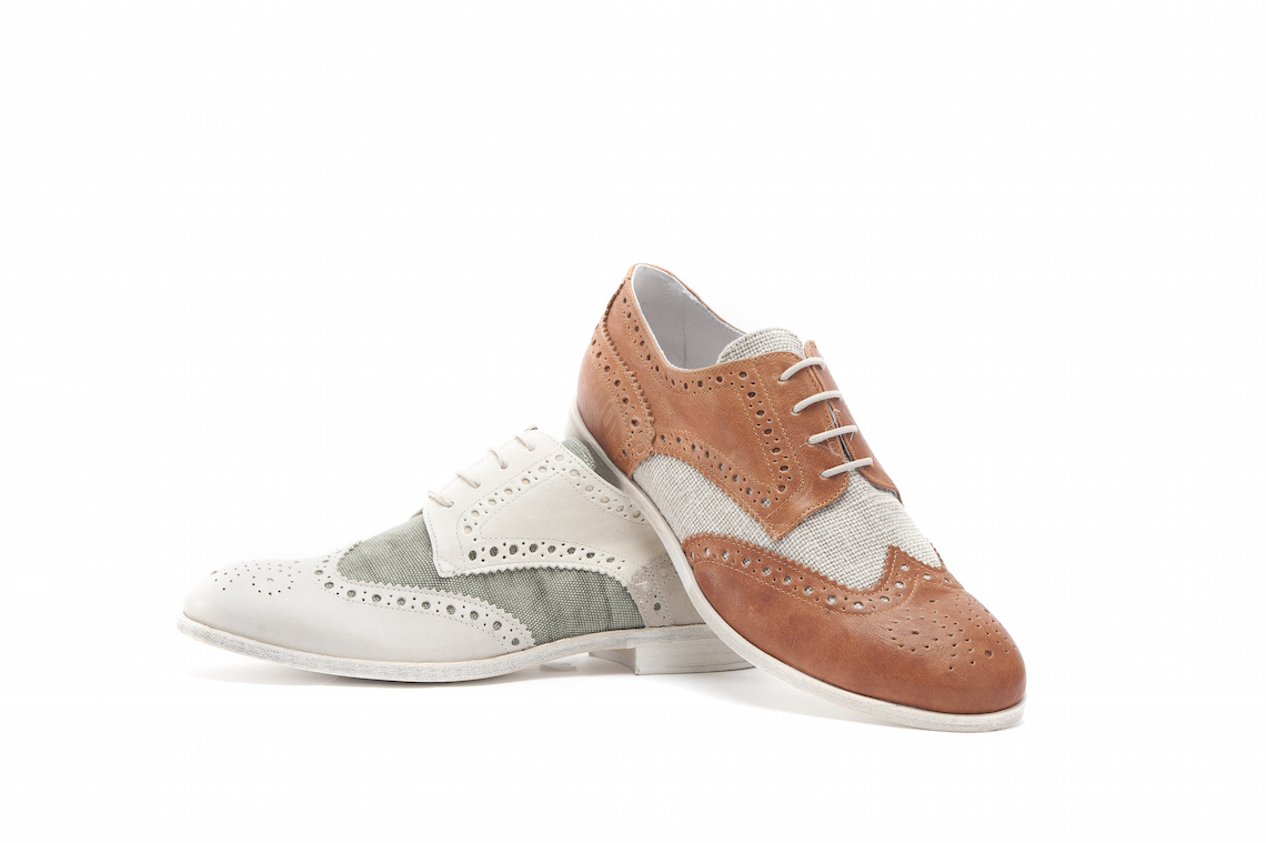 Scorpi le calzature in pelle e in tessuto.Suola cuoio vintage.Lucacalzature  Milano 8d45964d304