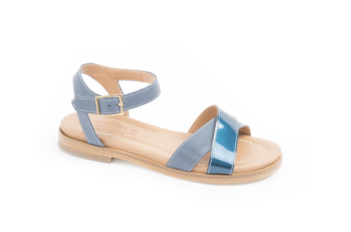 Sandalo basso Calzature in pelle con incrocio. – Luca Calzature basso E store f486e9