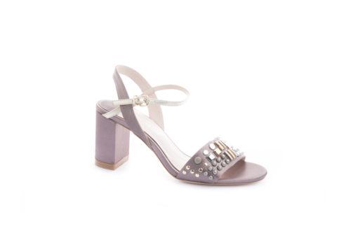 Sandali eleganti in tessuto con acessori e tacco 7 cm, scegli i modelli classici e eleganti.
