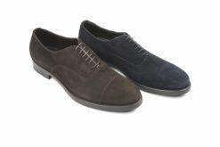 Scarpe da uomo classiche eleganti in camsocio, modello francesina stringata.