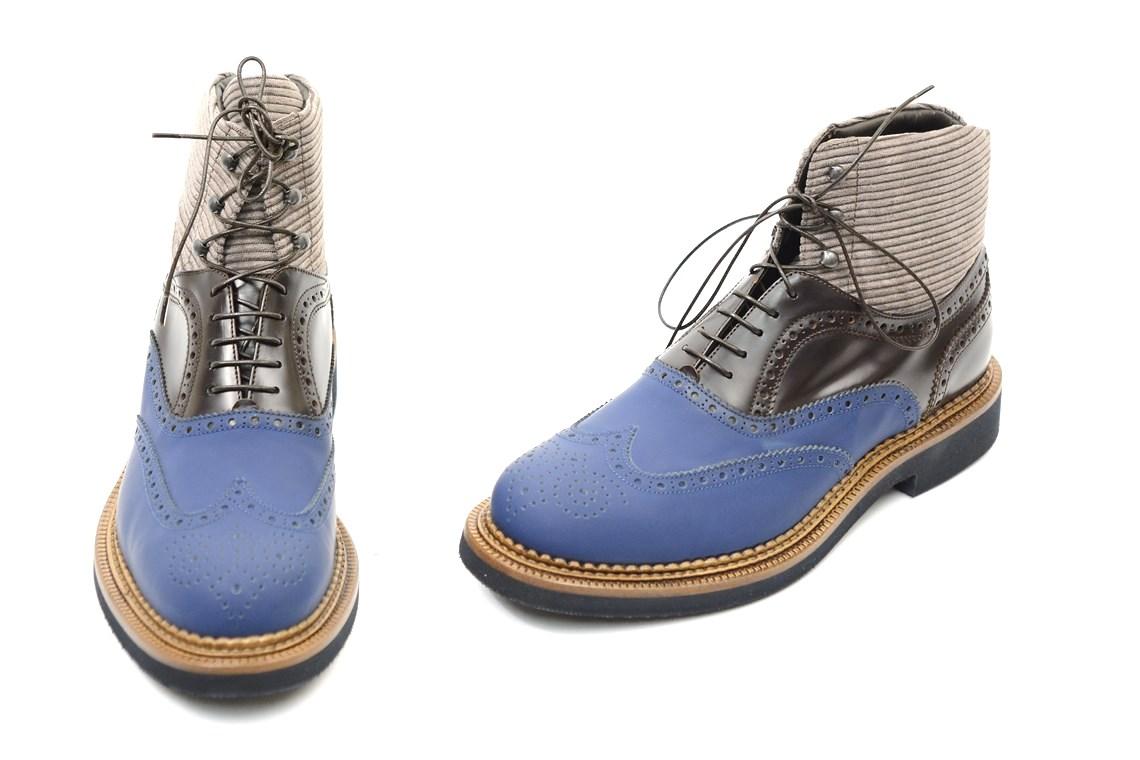 Polacchino uomo stringato fondo gomma e cuoio calzature uomo made in italy ( 2) 25e078df72e