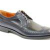Scarpa elegante allacciatura derby in vitello bicolore.scarpe uomo classiche ed eleganti lucacalzature milano