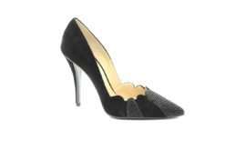 scarpa donna con il tacco alto in tessuto e con strass.Calzature eleganti a milano (3)