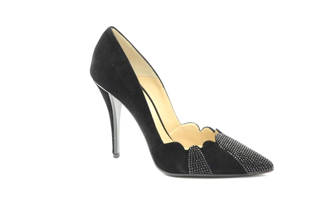 scarpa donna con il tacco alto in tessuto e con strass.Calzature eleganti a  milano 1f9b8c2eaa5
