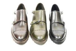 Monkstrap in pelle con fiore in punta,scarpa uomo classica sportiva lucacalzature milano corsovercelli.