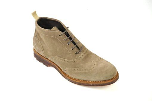Calzature uomo artigianali Franceschetti sports shoes.Ankle boots in suede with rubber sole.Promozione online sui numeri grandi taglie forti