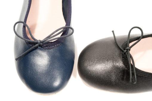 Ballerine con tacco basso in nappa a Milano in Cso Vercelli..Visita il nostro store online.