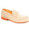 Mocassino tipo beary loafer in suede con suola mattona tipo trickers,prodotto made in italy,calzature artigianali a milano (1)