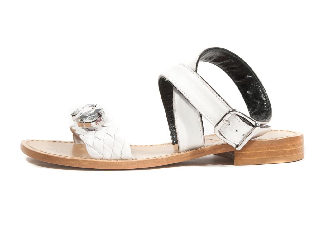 Sandalo basso gioielli in vitello. – Luca Calzature E-store 281355dada8