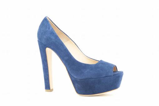 Sandalo open toe in camoscio con plateau by lella baldi shoes.made in italy luca,