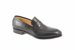 Mocassino elegante da uomo con fondo cuoio cucito a mano,scarpe artigianali lucacalzature