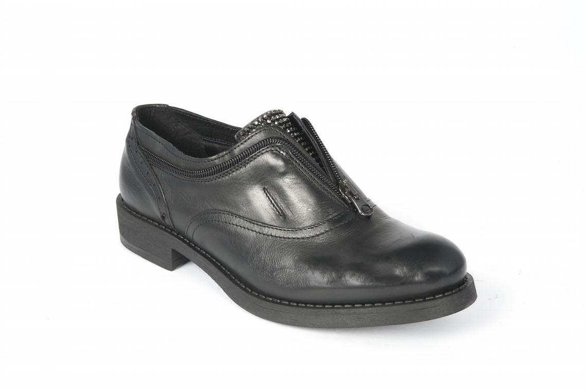 7ea049d7d025e Francesina in pelle nera con cerniera. – Luca Calzature E-store