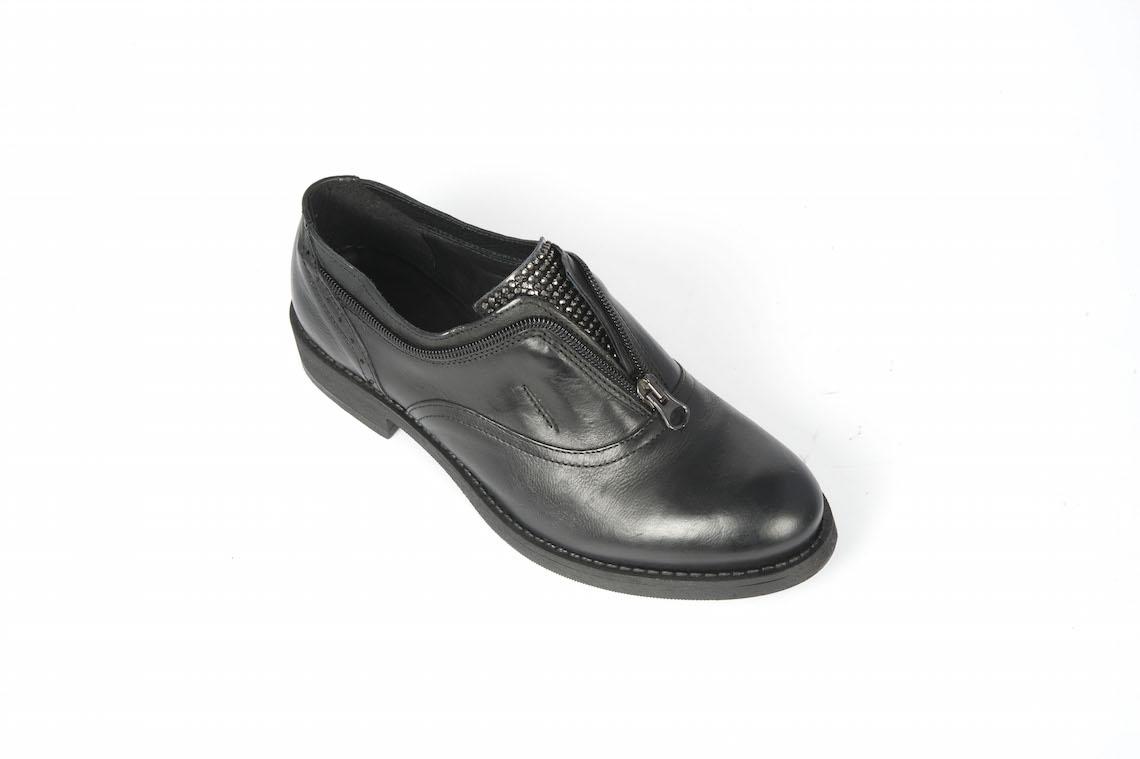 87b93a21d9729e Francesina in pelle nera con cerniera. – Luca Calzature E-store