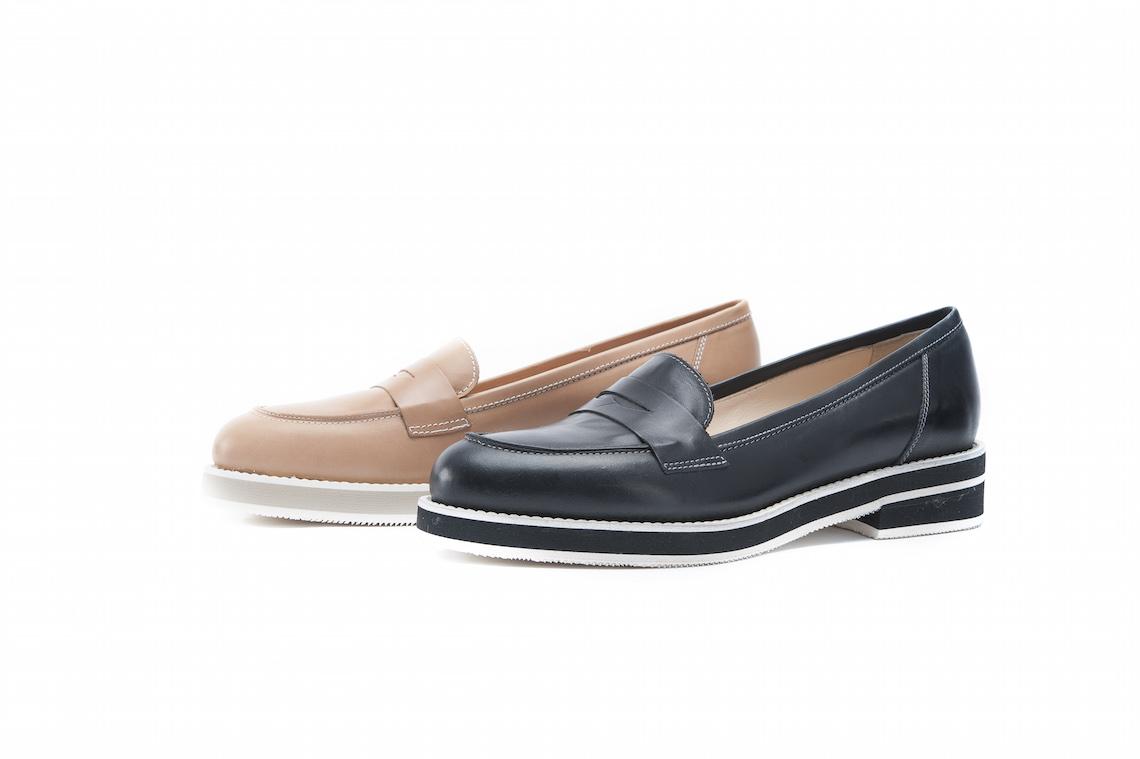 best sneakers 8f981 854ea Mocassino primaverile in pelle con suola di gomma.