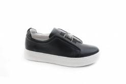 Scarpe sneakers da donna in pelle con accessorio,scegli il nsotro shoponline www.lucacalzature.it