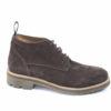 Scarponcino da uomo in camsocio con suola vibram gumlite,scarpe robuste autunno inverno.