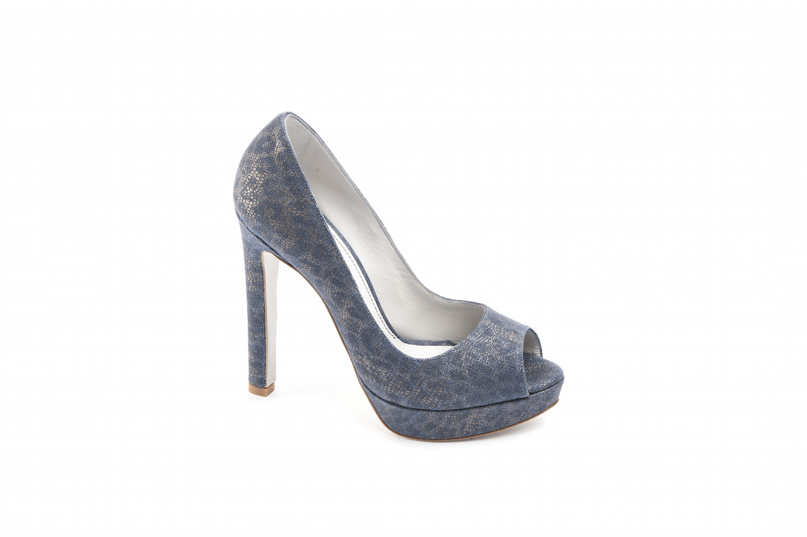 new product 7f05a 4c138 Open toe in camoscio stampato vintage.