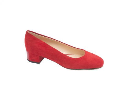 Decolletè da donna in camsocio con tacco basso,scegli le tue calzature eleganti.