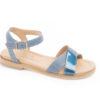 Sandali con tacco basso in pelle,scegli i modelli con i cintuirni alla caviglia.Solo su www.lucacalzature.it