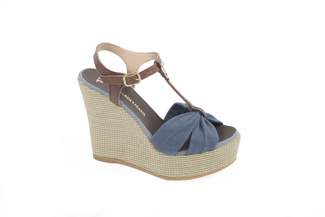 In Luca Store Tessuto Sandalo Calzature Zeppa E Pelle– 53Aj4RLq