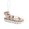 Sandalo sportivi con suole di gomma, scegli i saldi estivi chiari a Milano da lucacalzature.