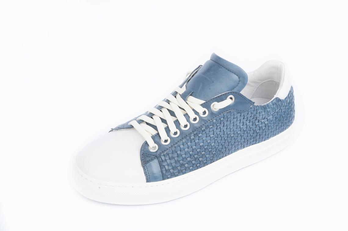 Sneakers in vitello intrecciato con suola cassetta. – Luca Calzature ... 43bdb2ac701