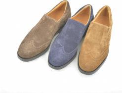 Scarpe da uomo in camoscio realizzate in italia, scportive ed eleganti