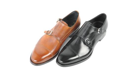 calzatureartigianalifatteamanoanapolidoppiafibbiaeleganteinpelle